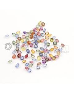 4 mm - Medium Tones Multi-Sapphire Round Cut Stones - 93 Pieces - 32.62 carats (MSCS1013)