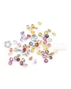 4 mm - Medium Tones Multi-Sapphire Round Cut Stones - 68 Pieces - 25.24 carats (MSCS1014)