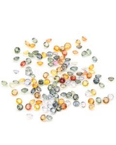5 to 5.50 mm - Dark Tones Multi-Sapphire Round Cut Stones - 122 Pieces - 83.97 carats (MSCS1022)