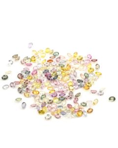 4 x 3 mm - Medium Tones Multi-Sapphire Oval Cut Stones - 177 Pieces - 41.44 carats (MSCS1024)