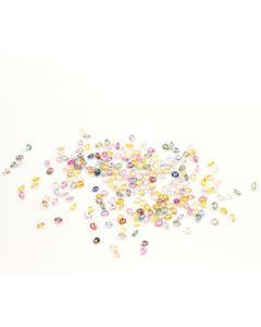 4 x 3 mm - Medium Tones Multi-Sapphire Oval Cut Stones - 232 Pieces - 52.86 carats (MSCS1025)