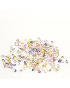 4 x 3 mm - Medium Tones Multi-Sapphire Oval Cut Stones - 232 Pieces - 53.75 carats (MSCS1026)