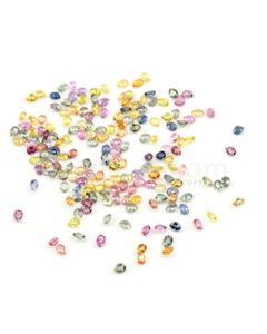 4 x 3 mm - Medium Tones Multi-Sapphire Pear Cut Stones - 180 Pieces - 40.51 carats (MSCS1037)