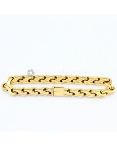 "18kt Yellow Gold Gentleman's Bracelet, L.8 1/2"" - 40.00 grams - EST1027"
