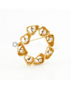 14kt YG, Diamond Freeform Brooch - 1 Pc. - 9.10 grams - EST1081