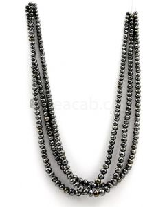 4.50 to 6.50 mm - Black Diamond Faceted Beads - 3 Lines - 303.72 carats - BDIA1040