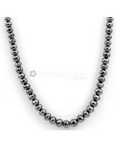 4.50 to 6.30 mm - Black Diamond Faceted Beads - 1 Line - 103.51 carats - BDIA1036
