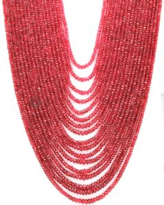 2.50 to 5.00 mm - Medium Purple-Red Spinel Faceted Beads - 17 Lines - 945.85 carats - SPNFB1005
