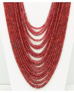 2.50 to 2.50 mm - Medium Purple-Red Spinel Faceted Beads - 16 Lines - 1185.1 carats - SPNFB1006