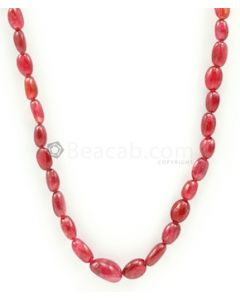 5.00 to 10.00 mm - Medium Purple-Red Spinel Tumbled Beads - 1 Line - 110.00 carats - SPNTUB1003