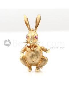 18kt Yellow Gold Bunny Pin and Pendant - 7.1 grams - EST1204