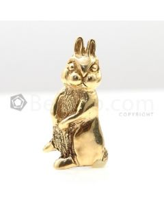 18kt Yellow Gold Bunny Pin and Pendant - 7.7 grams - EST1205