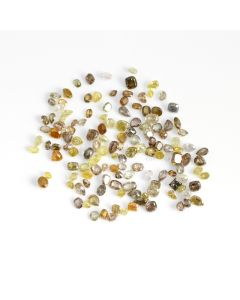 124 Pcs - Natural Fancy Medium Tones Mix Diamond Cut Stone Lot - 45.92 cts. - 3.5 x 2.9 mm to 5.1 x 4.5 mm (NFD1002)