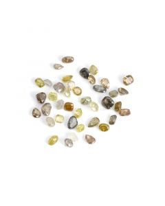 40 Pcs - Natural Fancy Medium Tones Mix Diamond Cut Stone Lot - 31.46 cts. - 4.3 x 4.4 mm to 7.3 x 5 mm (NFD1003)