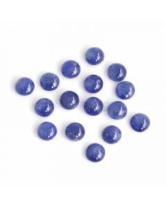 16 Pcs - Medium Blue Sapphire Cabochons - 28.71 ct. - 6.9 to 7.1 mm (SACAB1078)