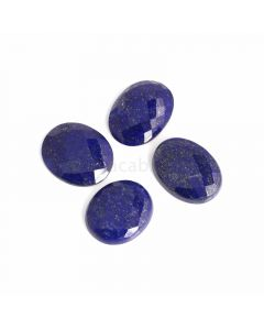 4 Pcs - Blue Lapis Lazuli Rose Cut - 155.31 ct. - 29 x 24 x 6 mm to 31 x 23 x 7 mm (LAPRC1008)