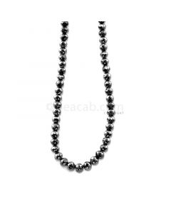 1 Line - 80.50 ct. - Faceted Black Diamond Beads - 4.50 to 5.30 mm - 15 in. (AABDIA1041)