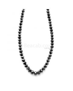 1 Line - 51.10 ct. - Faceted Black Diamond Beads - 3.20 to 4.40 mm - 15.25 in. (AABDIA1049)