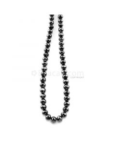 1 Line - 102.12 ct. - Faceted Black Diamond Beads - 4.10 to 6.30 mm - 15 in. (AABDIA1054)