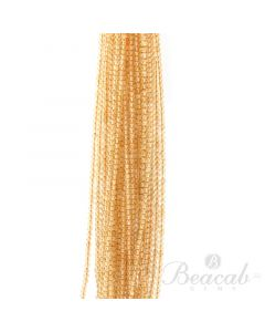 25 Lines of Light Yellow Citrine Plain Beads - 3 to 3.50 mm - 15 in. (CITSB1006)