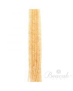 14 Lines of Light Yellow Citrine Plain Beads - 3.5 to 8 mm - 15 in. (CITSB1013)