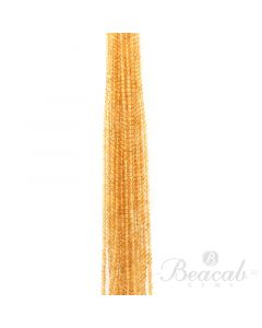 17 Lines of Medium Yellow Citrine Plain Beads - 3.80 mm - 15 in. (CITSB1025)