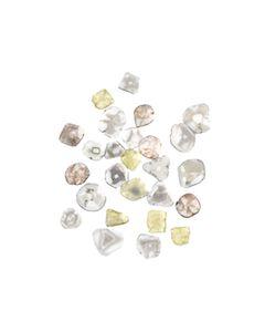 26 Pcs. - 7.24 cts. - Grayish White Diamond Slices - 5.19 x 5.14 x 0.49 mm to 7.92 x 7.69 x 0.62 mm (DS1165)