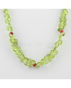 5.50 to 6.50 mm - 1 Line - Peridot and Spinel Drops Necklace  - 126.50 carats (CSNKL1141)