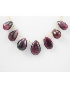 14 to 19 mm - Dark Purple-Red Tourmaline Drops - 81.00 carats (ToDr1071)