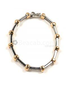 Round Shape White Diamond Bracelet in 18kt Gold - 20.8 grams - EST1365