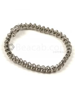 Round Shape White Diamond Bracelet in 14kt White Gold - 17.6 grams - EST1368