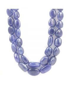 1 Line - Tanzanite Tumbled Beads - 19 inches (TzTub1004)