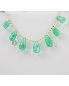14 to 19 - Light Green Emerald Drops - 70.04 carats (EDr1013)