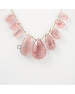 14 to 25 mm - Light Pink Tourmaline Faceted Drops - 107.50 carats (ToDr1067)