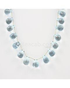 6.50 to 11 mm - Medium Blue Aquamarine Drops - 111.00 carats (AqDr1007)