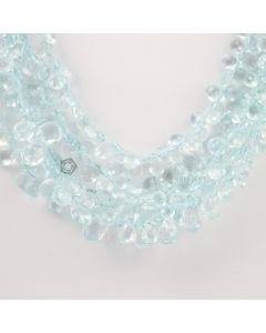 6 to 9 mm - Medium Blue Aquamarine Drops - 210.00 carats (AqDr1016)