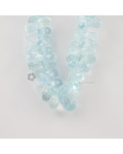10 to 17 mm - Medium Blue Aquamarine Drops - 183.00 carats (AqDr1017)