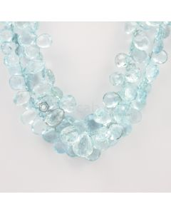 9 to 15 mm - Medium Blue Aquamarine Drops - 398.00 carats (AqDr1022)