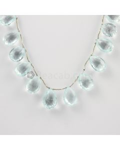 12 to 14 mm - Medium Blue Aquamarine Drops - 83.00 carats (AqDr1024)
