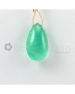 19.50 mm - Medium Green Emerald Drops - 13.50 carats (EDr1033)