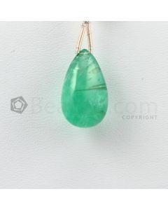 8.50 mm - Medium Green Emerald Drops - 13.00 carats (EDr1034)
