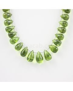 10 to 14 mm - Medium Green Peridot Drops - 118.50 carats (PDr1014)