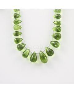 9 to 15.50 mm - Medium Green Peridot Drops - 72.00 carats (PDr1015)