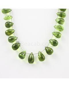 9 to 13 mm - Medium Green Peridot Drops - 108.00 carats (PDr1018)
