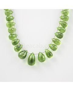 9 to 15.50 mm - Medium Green Peridot Drops - 116.00 carats (PDr1020)