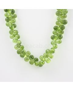 8 to 9 mm - Medium Green Peridot Faceted Drops - 160.00 carats (PDr1031)