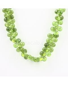 9 to 10 mm - Medium Green Peridot Faceted Drops - 198.00 carats (PDr1032)