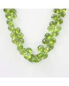 8 to 13 mm - Medium Green Peridot Faceted Drops - 152.00 carats (PDr1034)