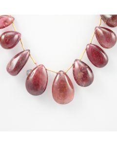 16 to 23 mm - Medium Purple-Red Tourmaline Drops - 158.50 carats (ToDr1070)
