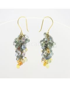 3 to 4 mm - Multi-Sapphire Drop Earrings - 48.50 carats (CSEarr1004)